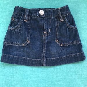 Baby Gap Jean skirt  6-12 months- Like New